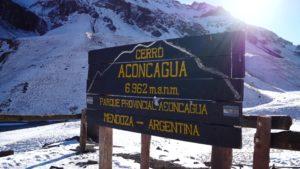 Aconcagua Snow Park entrance signboard