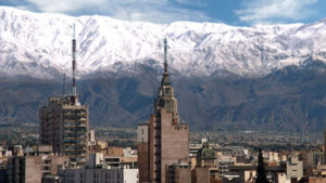 Las Leñas behind the city of Mendoza.