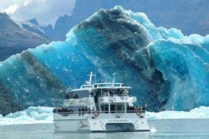 Ride a brage to get close to the Perito Moreno Glacier.