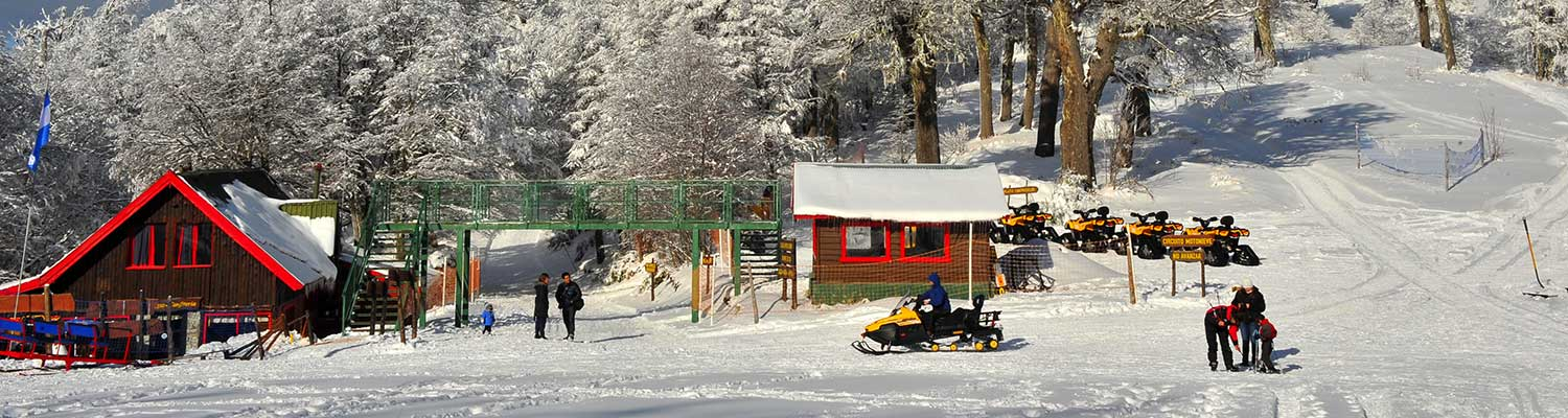 The typical setting Bariloche during winter..