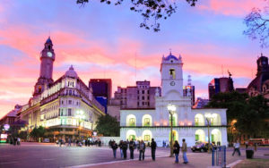 At the center of Buenos Aires.