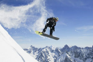 Snowboarding is a great recreational activity.