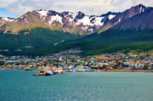 Ushuaia is near the sea.